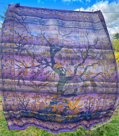 PURPLE TREE OF LIFE WALL HANGING / TAPESTRY