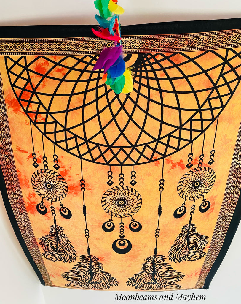ENCHANTING SINGLE SIZE DREAMCATCHER TAPESTRY