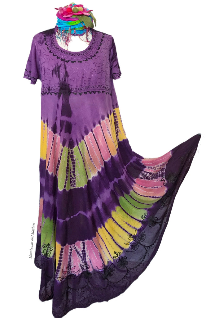 DELICIOUS 'SPIRIT DANCE' PURPLE  TUNIC DRESS SIZE UK M / L