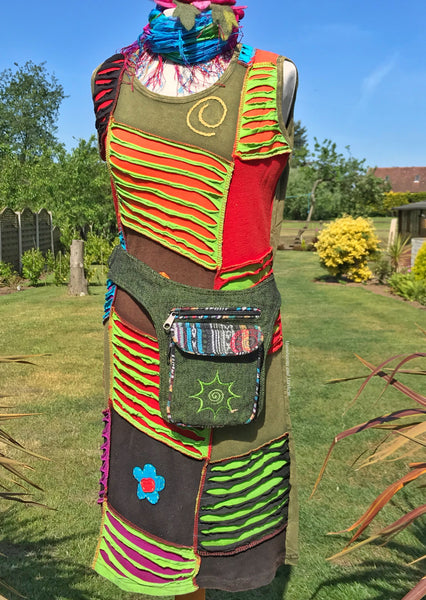 FUNKY COTTON WAIST BAG / BUM BAG - VARIOUS COLOURS