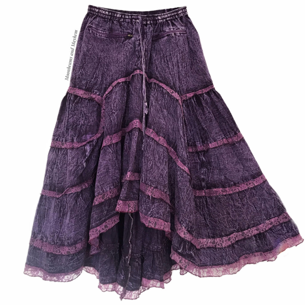 STRIKING PURPLE COTTON QUEENIE SKIRT ( M / L )