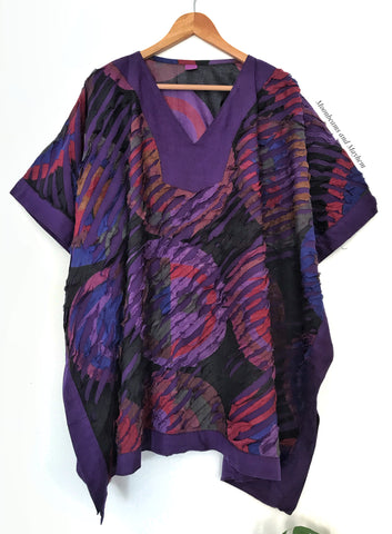 DELICIOUS PURPLE LIBERATION KAFTAN / TOP - PLUS SIZE