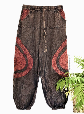 WONDERFUL EARTHY COTTON HAREM PANTS / TROUSERS