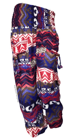 TRIBAL WINTER WARM FLEECE HAREM PANTS (191)