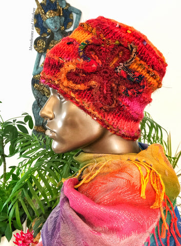WONDERFUL WILD FIRE WINTER BEANIE HAT
