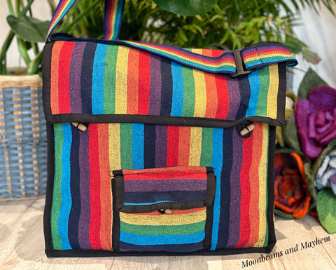 WONDERFUL COTTON RAINBOW SATCHEL / SHOULDER BAG