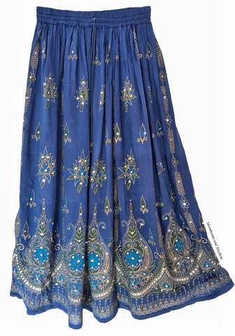 BEAUTIFUL BLUE INDIAN SKIRT / SIZE M