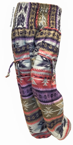 TRIBAL WINTER WARM FLEECE HAREM PANTS (182)