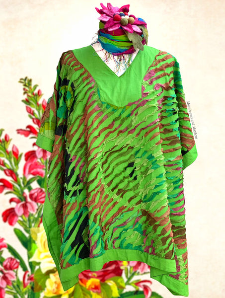 DELICIOUS GREEN LIBERATION KAFTAN / TOP - PLUS SIZE