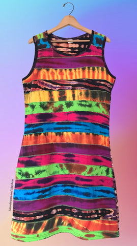 WILD WARRIOR COTTON TANK DRESS ( SIZE UK 14 ) 101