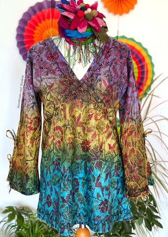 BOHEMIAN SUNDANCE BLOUSE TOP UK 12 / 14 (098)