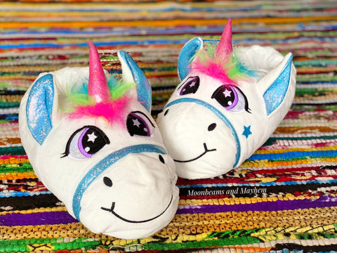 MOONBEAMS MYSTIC UNICORN SLIPPERS - MoonbeamsandMayhem