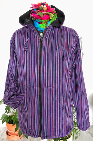 EASY PEASY UNISEX PURPLE JACKET / COAT M / L / XL