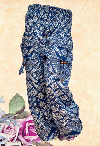 WARM BLUE XL PERSIAN BLUE HAREM PANTS
