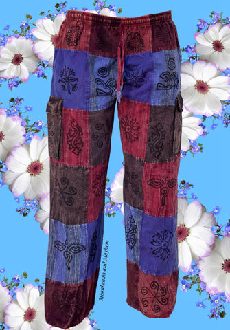 PURPLE CAMDEN PATCH TROUSERS / BAGGIES - M / L / XL (428)
