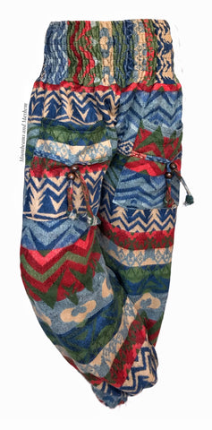 TRIBAL WINTER WARM FLEECE HAREM PANTS (185)