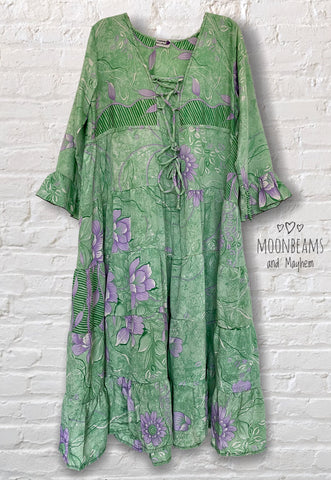 STRIKING GREEN PORTOBELLO ROAD DRESS / FREE SIZE