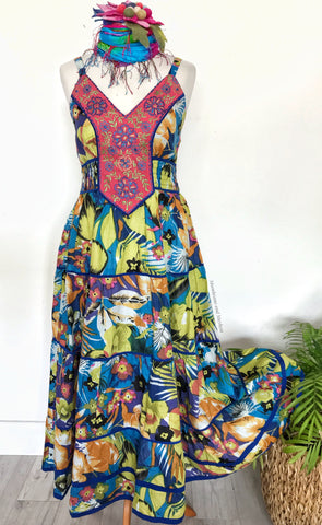 PRETTY  GARDEN PARTY DRESS UK SIZE 10/12/14