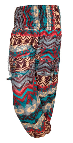 TRIBAL WINTER WARM FLEECE HAREM PANTS (187)