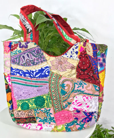 WILD SPIRIT EMBROIDERED SHOULDER BAG / TOTE