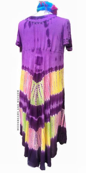 DELICIOUS 'SPIRIT DANCE' PURPLE  TUNIC DRESS SIZE UK M / L - MoonbeamsandMayhem