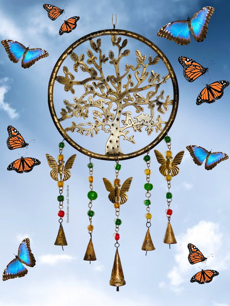 ENCHANTING TREE OF LIFE, BEADS AND BELLS CHIMES