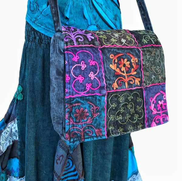 DELICIOUS INDIGO BLUE 'LUNA' SATCHEL - MoonbeamsandMayhem