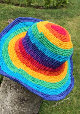 WONDERFUL 'JUNIPER' RAINBOW HIPPIE CROCHET HAT