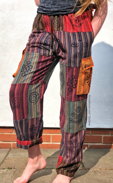 SUPER COMFY CAMDEN PATCH PANTS / BAGGIES - XL