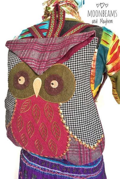 WONDERFUL 'PRIMROSE' OWL BACKPACK / BAG - MoonbeamsandMayhem