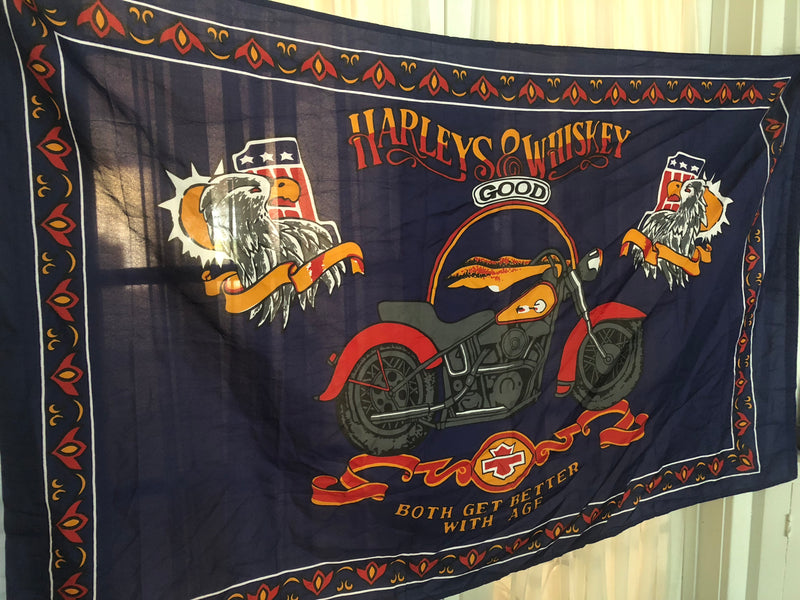 Vintage Harley's & Whiskey Flag