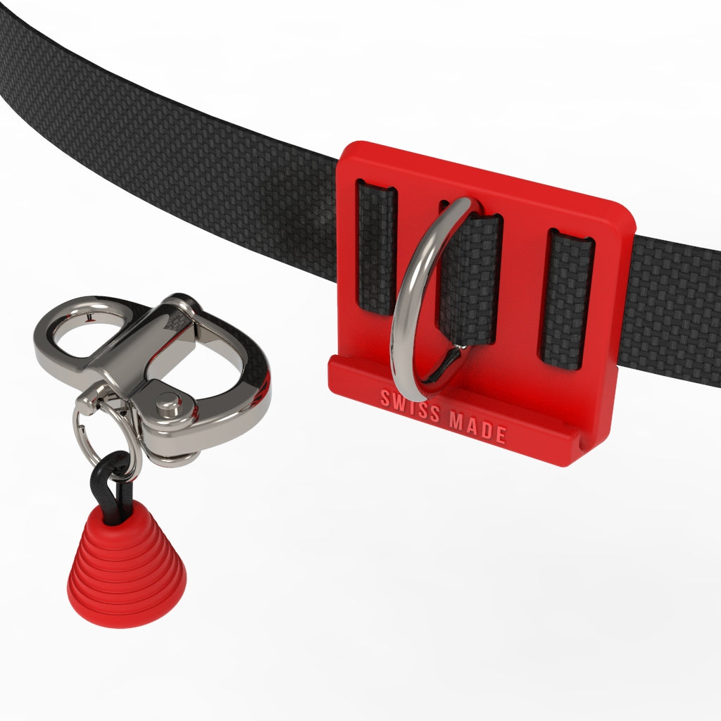 red CNF belt with quick release