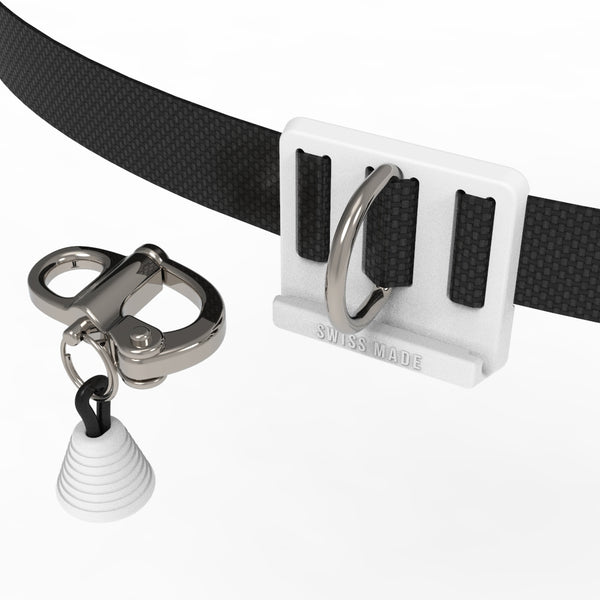 white CNF belt with quick release