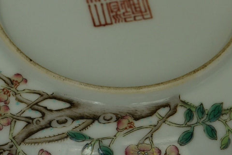 Pair of Chinese Famille Rose Dishes Daoguang Mark