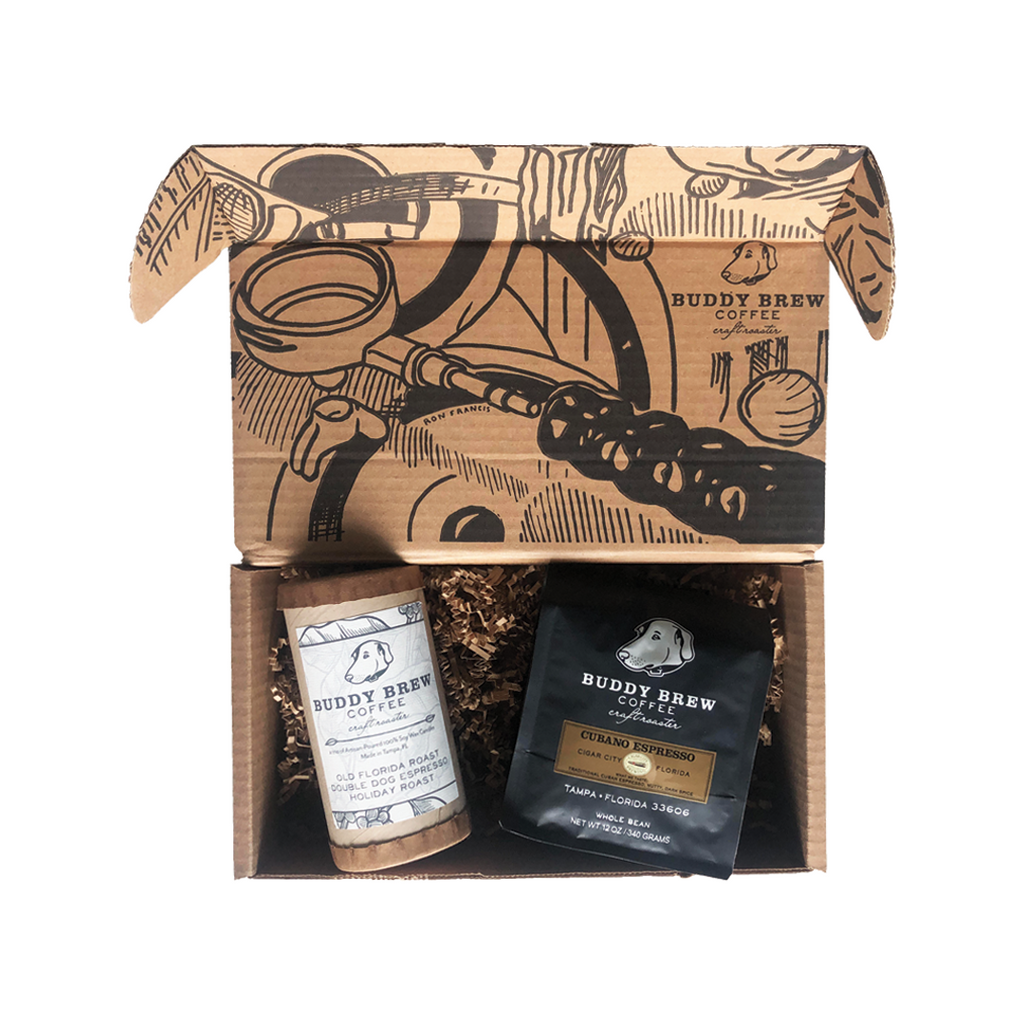 Coffee + Candle Sampler - Gift Set