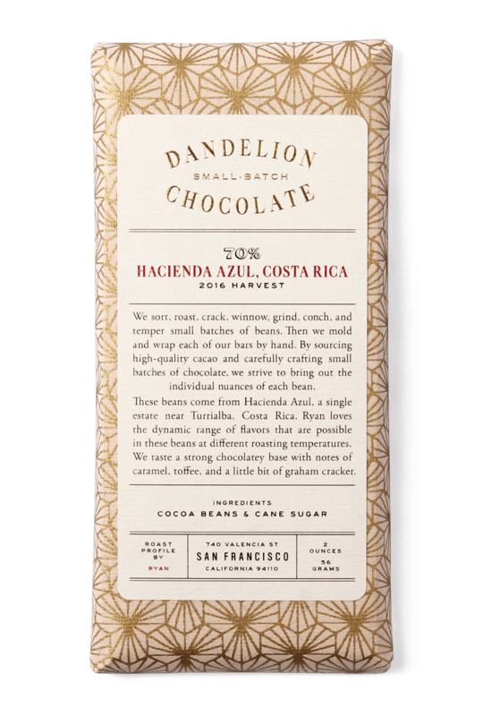 Dandelion Chocolate - Hacienda Azul, Costa Rica