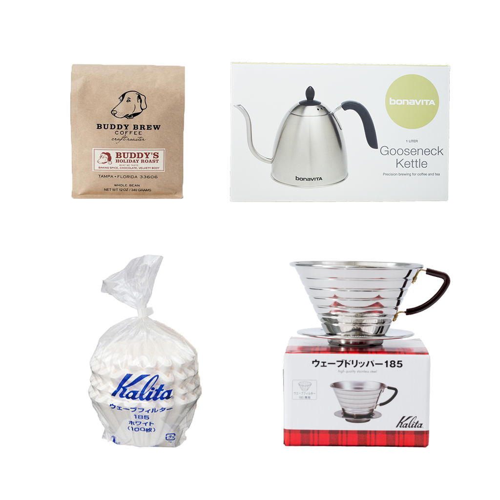 The Necessities Set - 3 Coffee + Kalita + Filter + Kettle