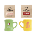 onbikes Gift Set - 2 onbikes Mugs + 2 Coffee