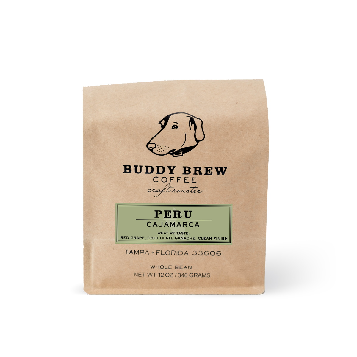 Buddy Brew Coffee Peru Cajamarca Whole Bean