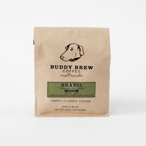 Buddy Brew Coffee Brazil Decaf Whole Bean