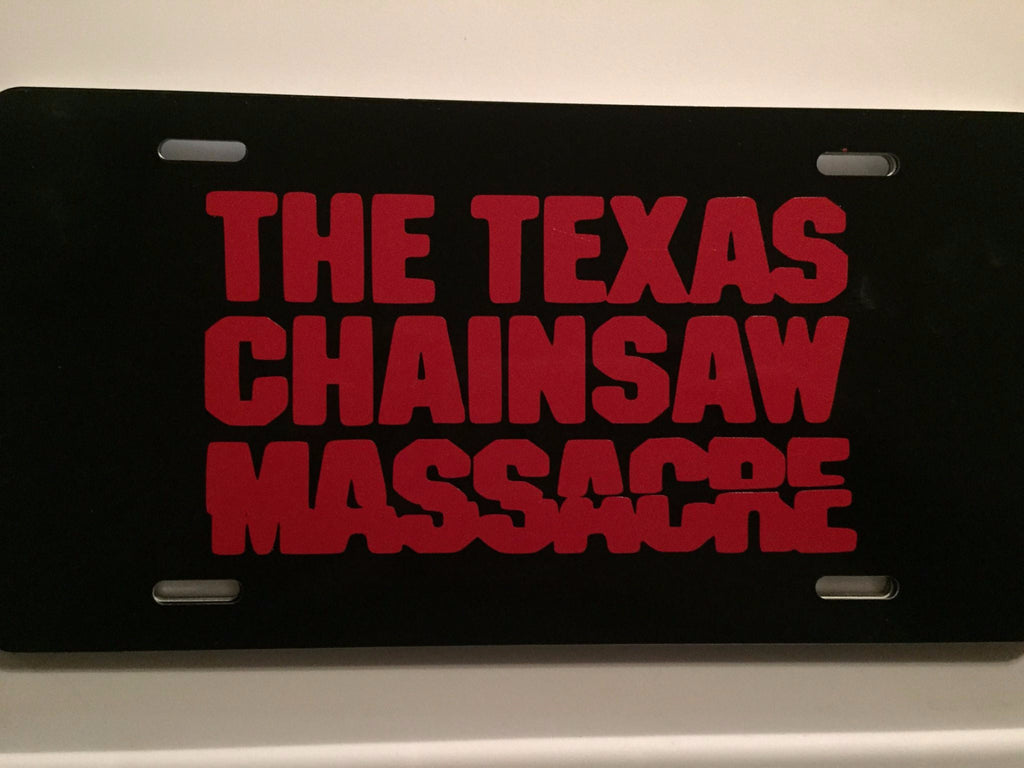 TCM Texas Chainsaw Massacre License Plate