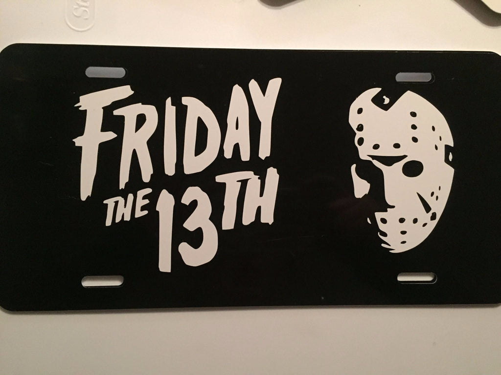 F13 Friday the 13th License Plate