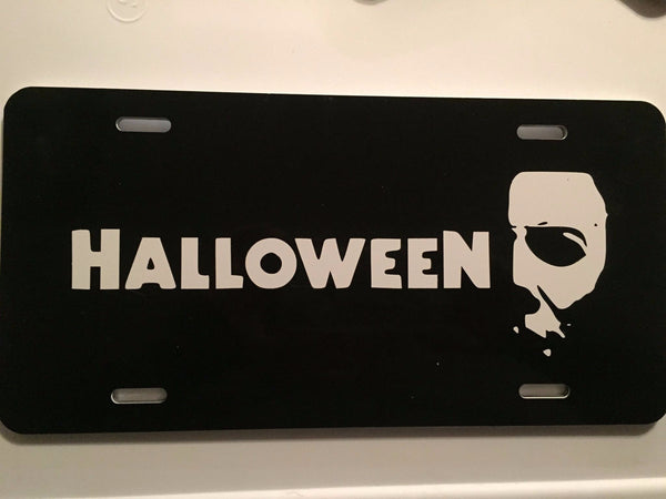Halloween License Plate