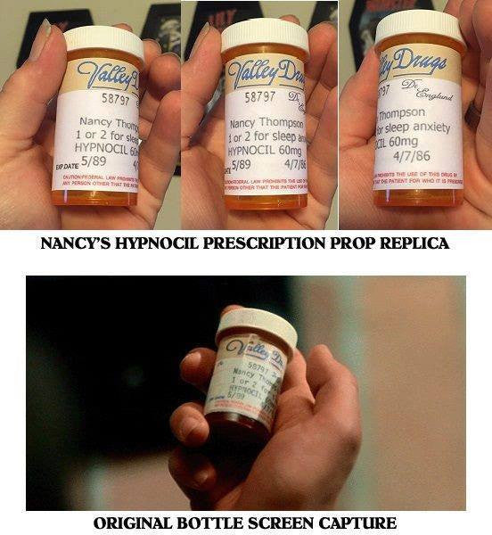 Nancy's Pill Bottle Prop replica