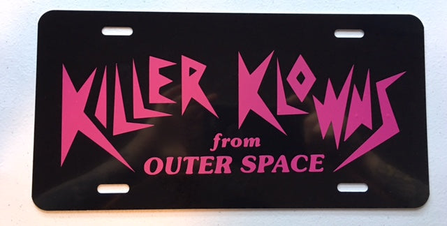 Killer Klowns License Plate