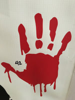 Bloody Hand Car Decal (42)