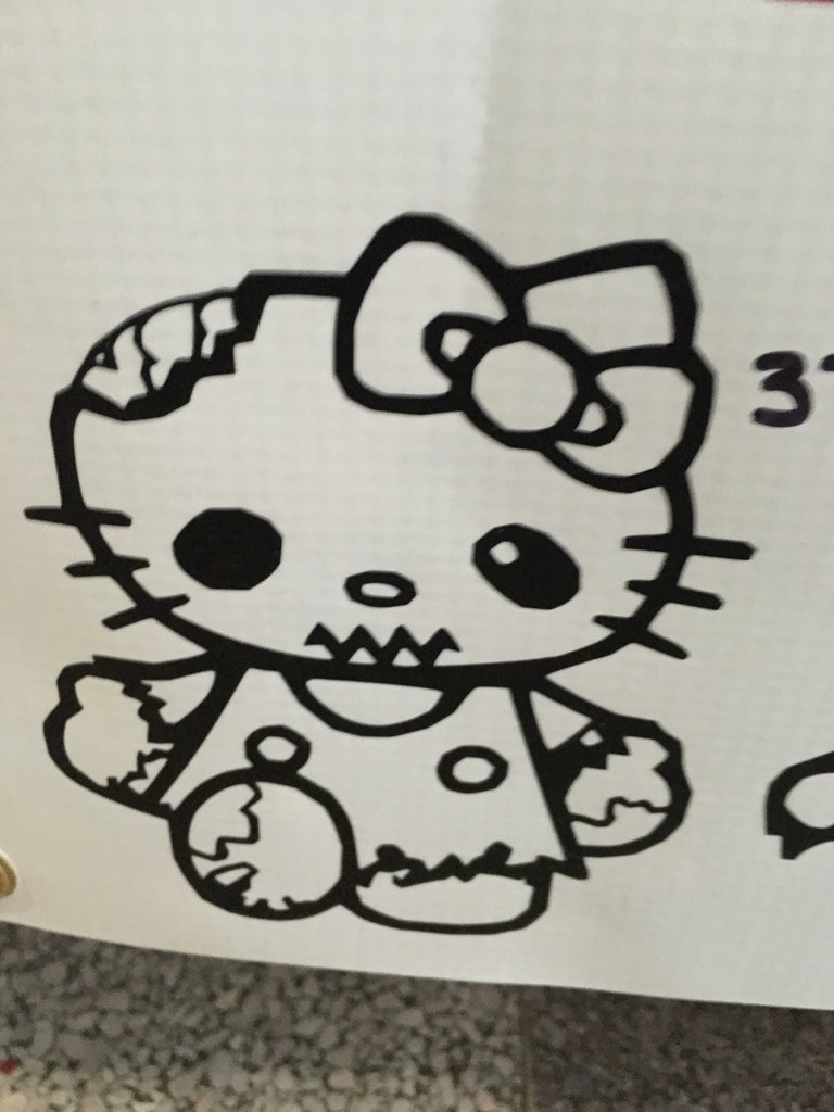 Hello Kitty Zombie Walker Car Decal (37)