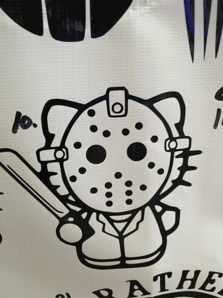 Hello Kitty Jason Friday the 13th Car Decal (10)