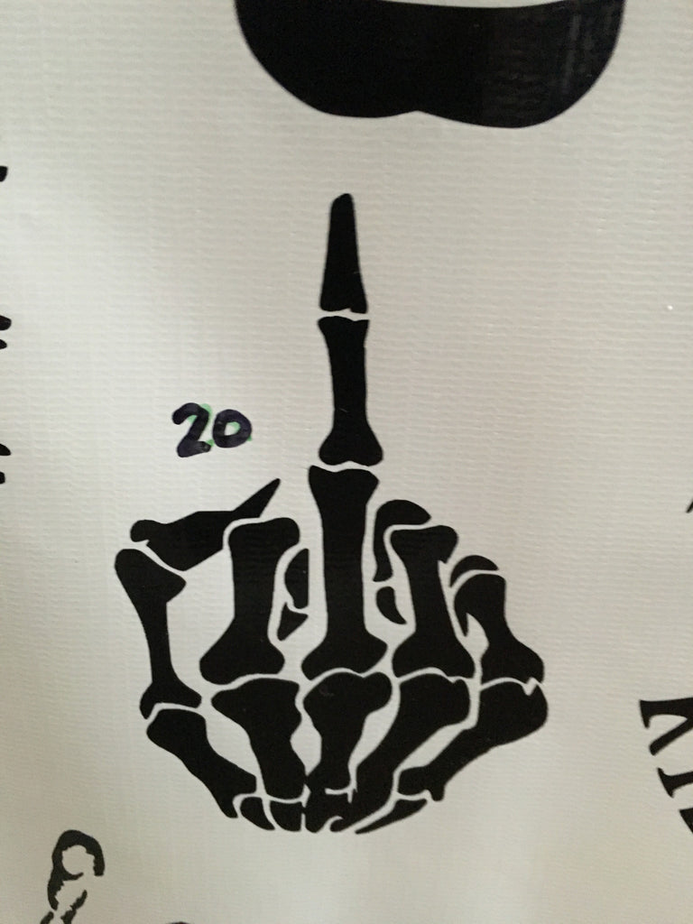 Skeleton Middle Finger Car Decal (20)