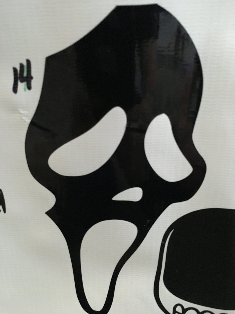 Scream Car Decal (14)